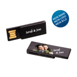 USB-Stick Clip-It schwarz individuell