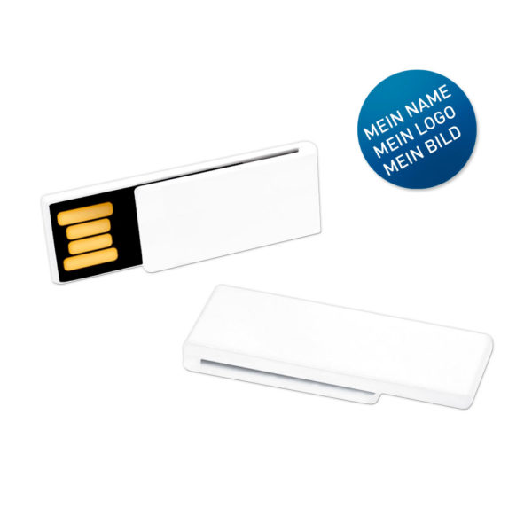 USB-Stick Clip-It weiß individuell